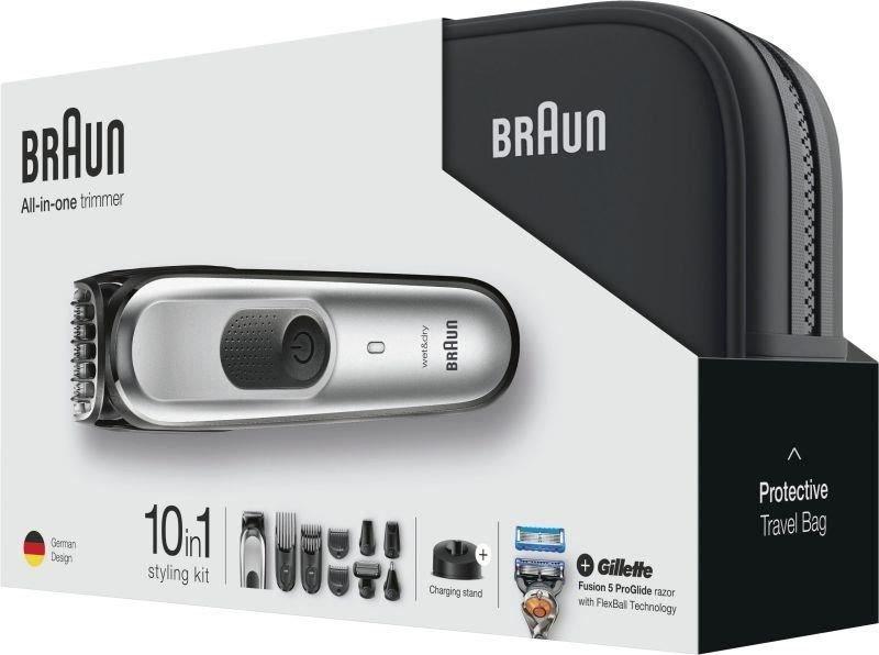 Braun MGK7920 10-in-1 All-in-one trimmer, Beard Trimmer & Hair Clipper, Black/Silver