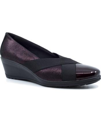 Imac 406130 Γυναικεία Ανατομικά Δερμάτινα Loafers με πλατφόρμα Μπορντό
