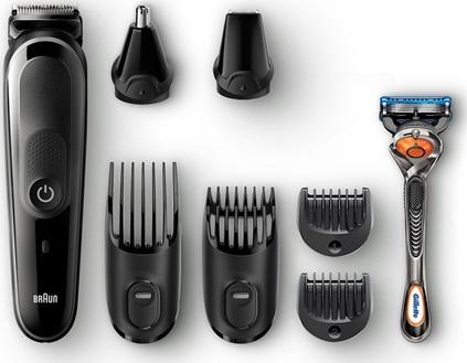Braun MGK5060 - 8in1 - Ηλεκτρική Επαναφορτιζόμενη Κουρευτική & Ξυριστική Μηχανή 3,6V Μαύρη