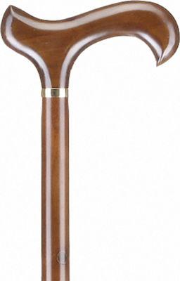 Μπαστούνι Με Derby Λαβή Καφέ AC828 ALFACARE