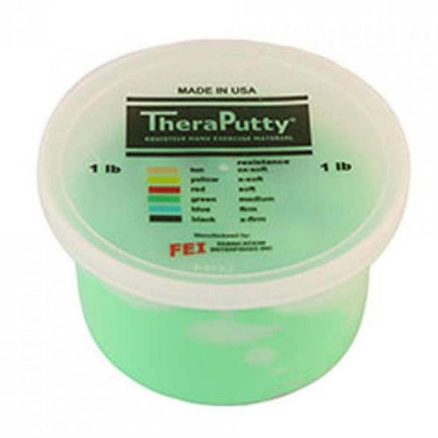 Πηλός Εξάσκησης Theraputty® - Πράσινο - Μέτριο - 0811475 - mobiak